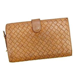 953d6cd5f6 Image is loading Bottega-Veneta-Wallet-Intrecciato-Brown-Gold-Woman-unisex-