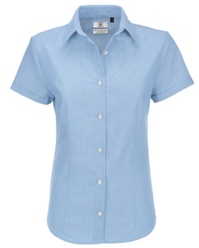 B/&C Ladies Oxford Short Sleeve Corporate Shirt-SWO04