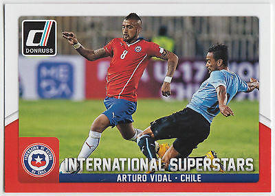 Donruss soccer 2015 Int Arturo Vidal superestrellas Chase Card #4
