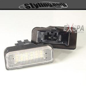 Mercedes-C219-CLS-SLK-R171-eclairage-pour-plaque-d-039-IMMATRICULATION-LED-BLANC