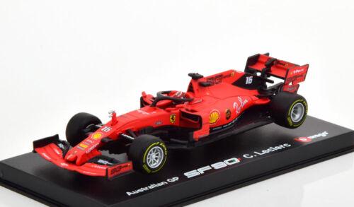 1:43 Bburago Ferrari SF90 GP Australia Leclerc 2019