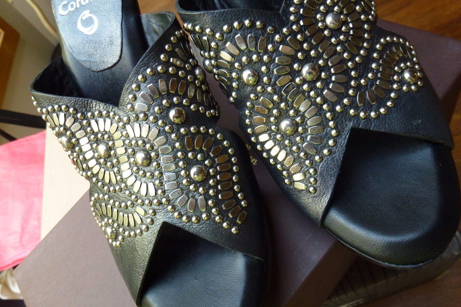 ny ny ny Calleen Cordero Topaz Wedge Sandals 7.5  498 handsnidad trähäl  upp till 60% rabatt