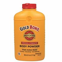 Gold Bond Body Powder, Medicated, Original Strength, 4 Oz Each on sale