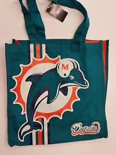NFL Miami Dolphins Reusable Canvas Shopping Tote, New