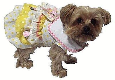 Dog dress clothes XSmall Miss Minnie Dotsl Dress Puppy Apparel