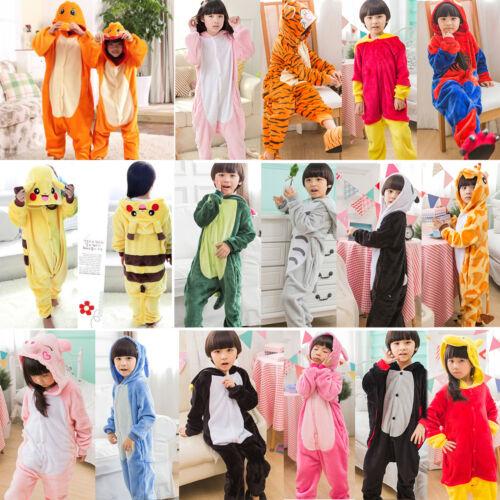 Kids Boys Girls Unicorn Kigurumi Bath Rob Cartoon Pajamas Nightwear Fancy Romper