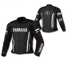 Negro Chaqueta De Cuero Moto Yamaha Racing Moto GP chaquetas de cuero dedk       islands9781465441324