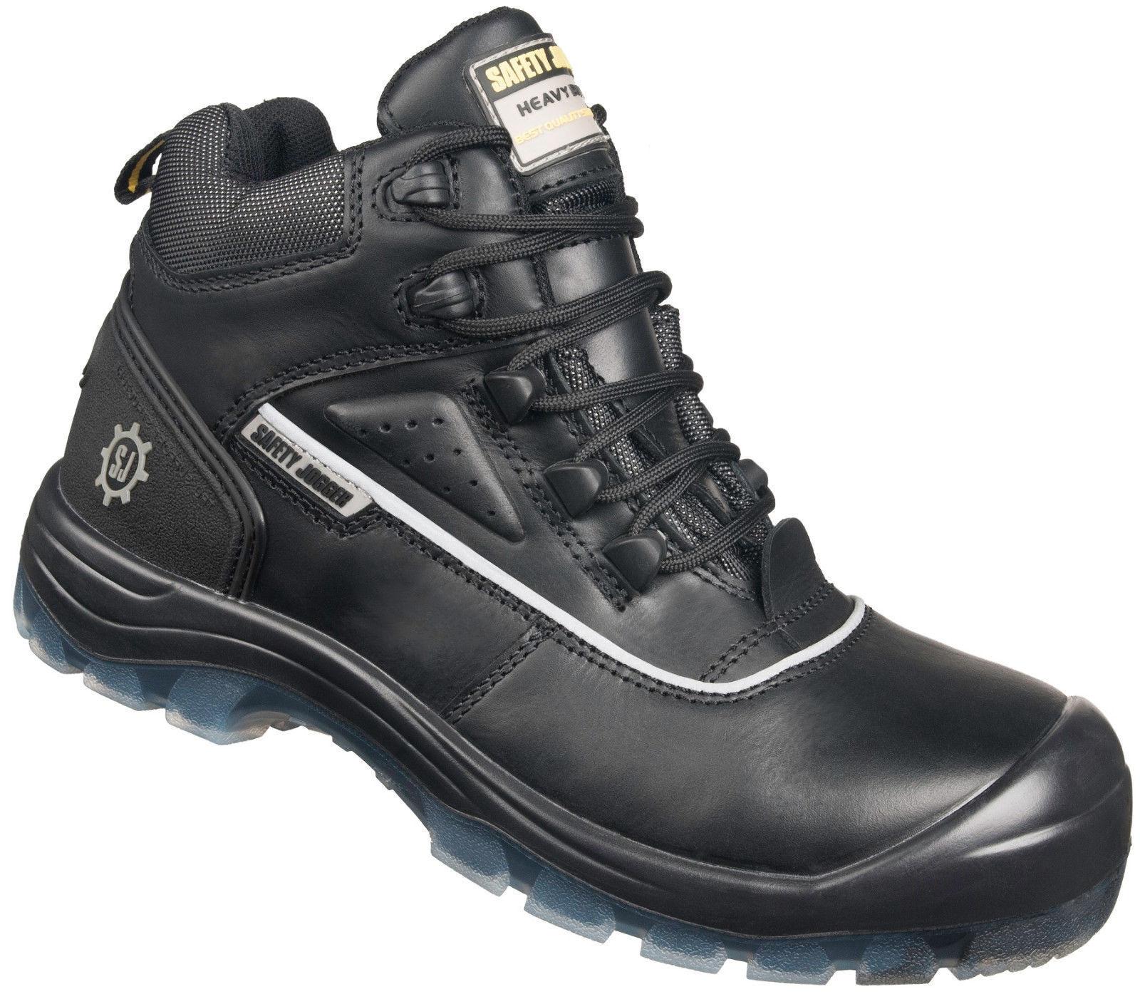 Men Work Boot Safety Jogger Cosmos Leather Black Black 100% Original Brand New