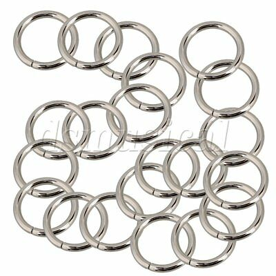 """Lot of 100 Metal O-Ring 1/"""" Paracord Survival Keychains Leashes Collars Crafts"""