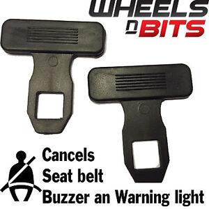 Citroen DS3 DS4 DS5 2x Universal Seat Belt Buckle Clips Warning Light Clearer