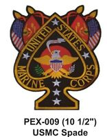 Usmc Spade Embroidered Military Extra Large Patch Officially Licensed (10 1/2)