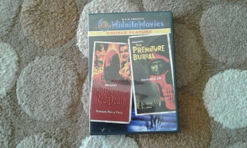 The Masque of the Red Death/The premature Burial DVD 2002 Widescreen Double feature for sale
