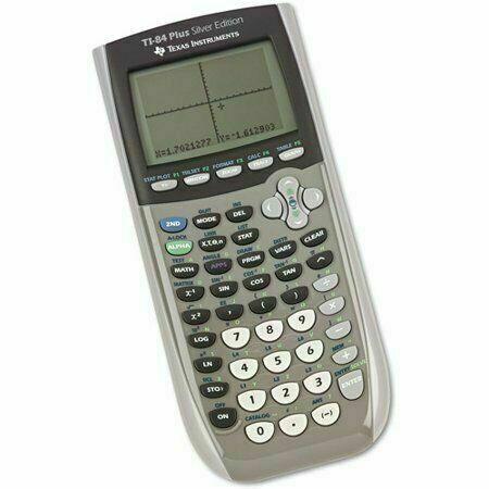 Silver TI-84 Plus Silver Edition Graphing Calculator Texas Instruments TI84
