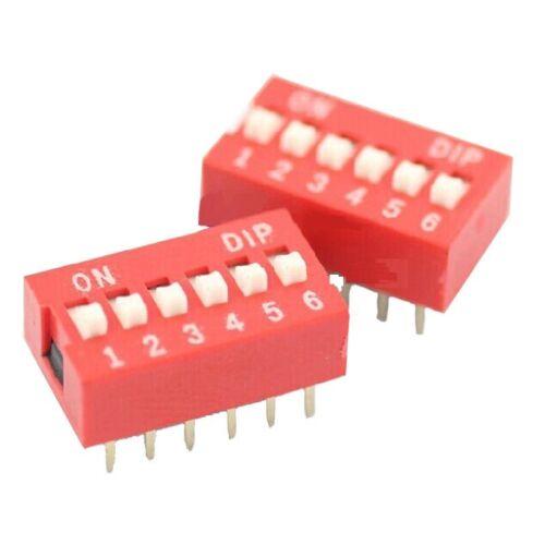 100 Pcs NEW Slide Type Switch Module 2.54mm 6-Bit 6 Position Way DIP Pitch
