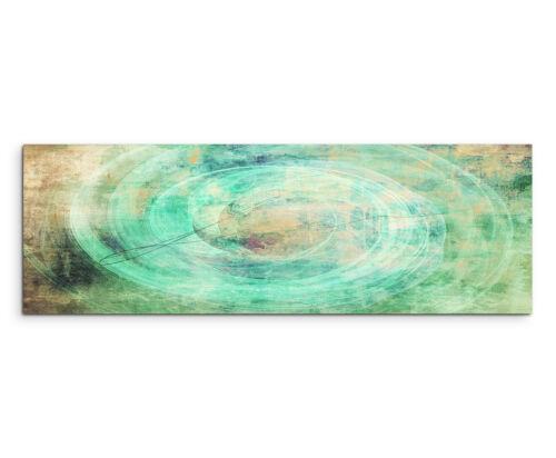 150x50cm Panoramabild Paul Sinus Art  Abstrakt grün braun creme Wohnzimmer
