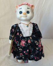 March Birthstone Porcelain Goebel Dolly Dingle Cat Doll - Ltd. 395/2000