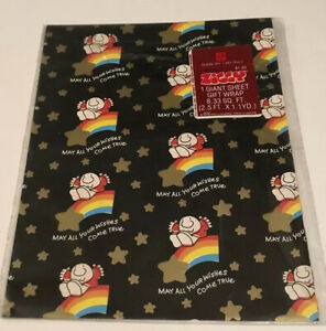 VINTAGE ZIGGY TOM WILSON GIFT WRAP 1980s WRAPPING PAPER AMERICAN GREETINGS