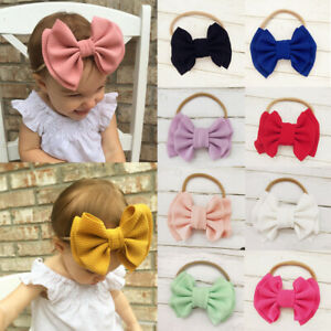 Toddler-Girls-Baby-Big-Bow-Hairband-Headband-Stretch-Turban-Knot-Head-Wrap-US