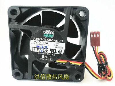 1PC SUNON 6025 KDE1206PTV2 12V 1.1W 60*25MM 3-wire silent cooling fan
