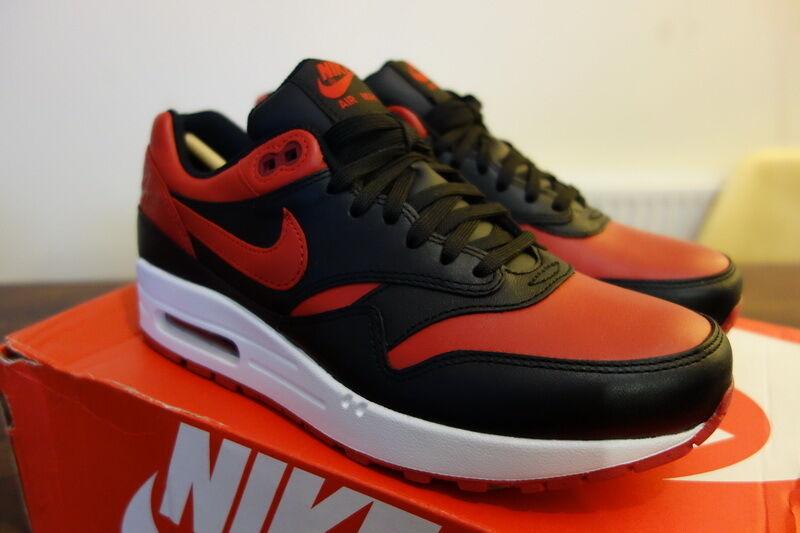 Nike Air Max 1 1 Max Bred PRM Valentines Red Black UK5.5 US6 EU38.5 vapormax flyknit a49386