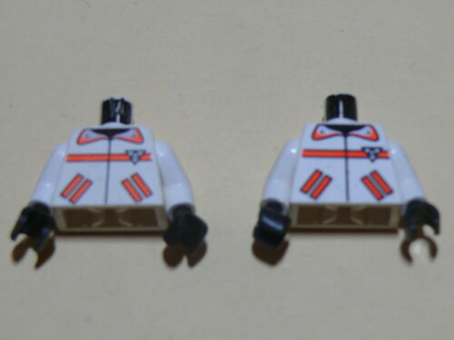 2 white torsos from minifig set 6451 6462 6415 Lego 2 torses blancs