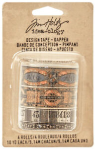 Tim-Holtz-Idea-ology-Design-Tape-Dapper-Adhesive-Backed-Printed-Imagery