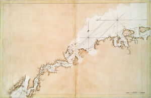 Details about 1770 Long Island Historic U.S. Survey Chart Coastal Map  Nautical Wall Art Poster