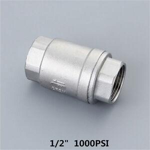 """3PCS 1/2"""" Check valve No return valve NPT 1000PSI Stainless steel 304 full Port"""