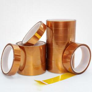 10m Roll Double Sided Kapton Tape Adhesive High Temp Heat