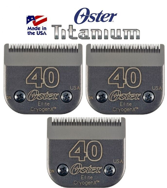 3 Oster A5 ELITE TITANIUM CryogenX 40 Guide Comb Clipper BladeLAST 3Time LONGER