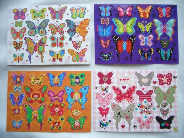 *Zauberhafte*Sticker&Postkarte*Lovely*Schmetterlinge&Butterflies*10 x15cm