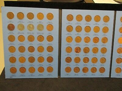 COMPLETE LINCOLN CENT COLLECTION 1941-1975 D IN A NEW WHITMAN FOLDER NUMBER TWO