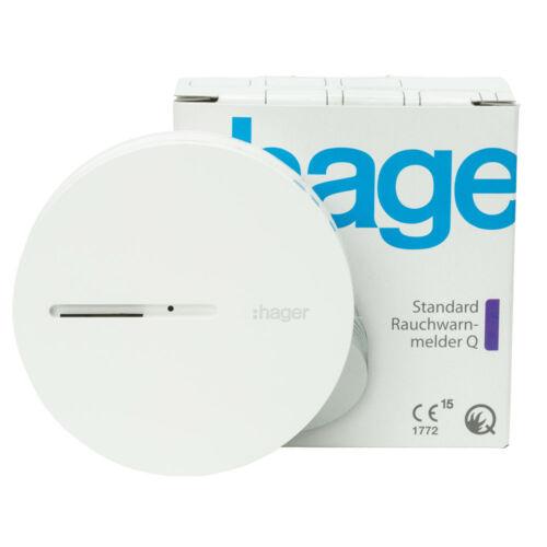 Hager TG600AL Détecteur de Fumée Standard Q-Label Blanc TG 600 Al 1er Paquet