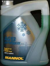 5 Liter MANNOL ANTIFREEZE AG13GRÜN Kühlerfrostschutz Ford Opel Mercedes BMW -40