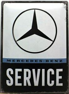 PLAQUE-METAL-vintage-MERCEDES-BENZ-SERVICE-40-x-30-cm