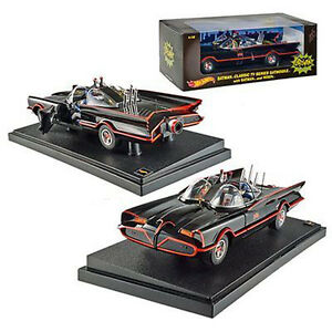 Hot-Wheels-Heritage-Series-1966-TV-Classic-Batmobile-1-18-Scale-by-Mattel