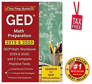 Best Practice Amp 2020 GED Math Preparation 2019 & 2020 Workbook and 2 Complete Practice