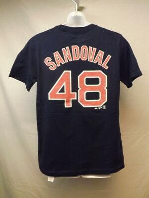 Baseball & Softball Motiviert Neu Boston Red Sox #48 Pablo Sandoval Majestic Jugend Medium 10/12 Blue T-shirt Weitere Ballsportarten