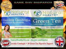 GARCINIA CAMBOGIA 75%HCA + GREEN TEA DETOX CAPSULES - WEIGHT LOSS DIET PILLS