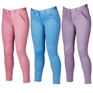ALL COLOURS /& SIZES Dublin Supa Slender Girls Classic Melange Jodhpurs