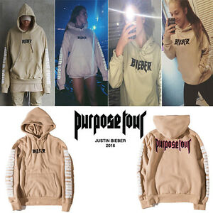 Mens-Hoodie-Sweat-Pullover-Hooded-Coat-WESTERN-STYLE-JUSTIN-BIEBER-PURPOSE-TOUR
