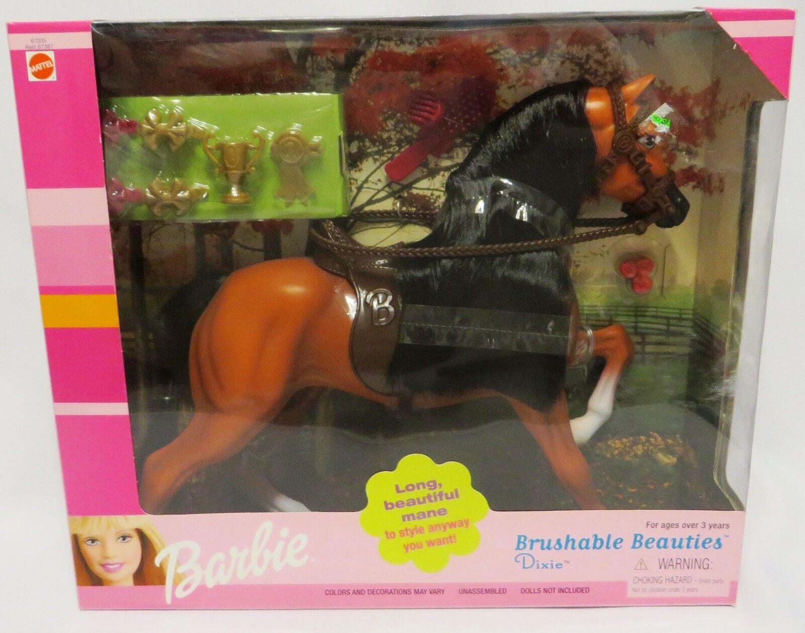 2000 nunca quitado de la Caja Mattel Peinables bellezas  Dixie  caballo de Barbie en caja sellada