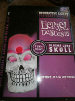Decorative Lights For Scary Nights Plasma Lamp Skull Eerie Desents 8.5 Inche