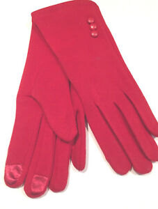 Red-Gloves-Women-One-Size-Fits-All-Winter-Walking-Driving-Gants-Femme-Rouge