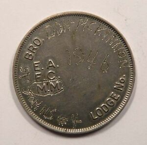 Vintage-Unusual-Winnipeg-Manitoba-Masonic-Penny-1946-St-John-s-Lodge-4-SCARCE