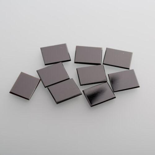 Onyx Cabochon Herrenringstein 12,5x10mm rechteck mit Abzug schwarz BOX 1 1