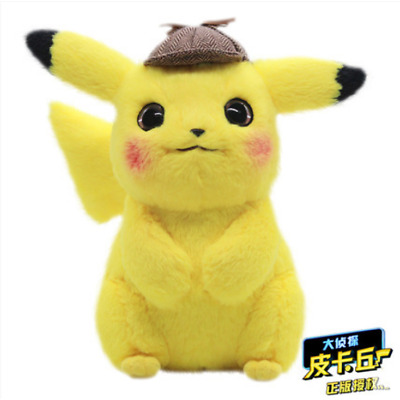 Pokemon Detective Pikachu Plush Doll Stuffed Toy Movie Official Gift 11""