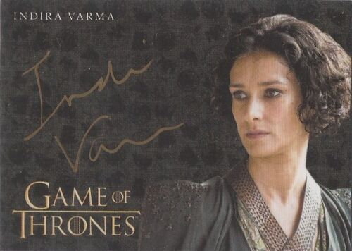 "Game of Thrones Valyrian Steel Indira Varma ""Ellaria Sand"" Gold Autograph Card"