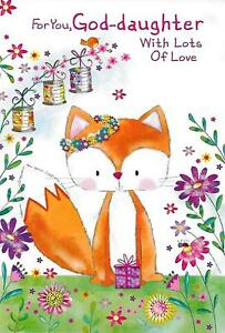 Image Is Loading GODDAUGHTER BIRTHDAY CARD BY SIMON ELVIN CUTE FOX