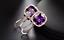 4Ct-Cushion-Cut-Amethyst-Diamond-Clip-On-Halo-Stud-Earring-14K-Rose-Gold-Finish thumbnail 1